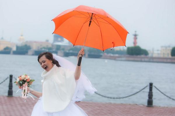 Свадебная фотосессия в дождь. Фотограф Игорь Шерман